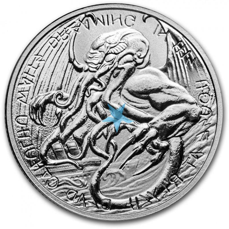 1 Oz stříbrná mince The Great Old One: Cthulhu 2021 $2 Tokelau