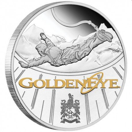 1 Oz stříbrná mince James Bond GoldenEye - 25. výročí, 2020 PROOF