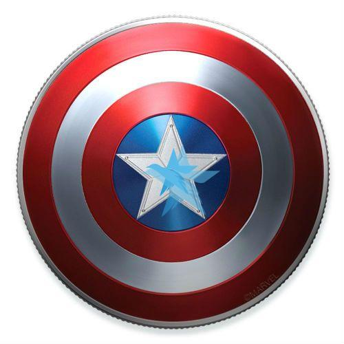 MARVEL 10g stříbrná mince 2019 CAPTAIN AMERICA Shield