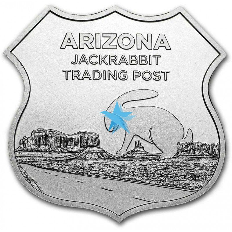 1 troy Oz Icons of Route 66 - JACK RABBIT TRADING POST