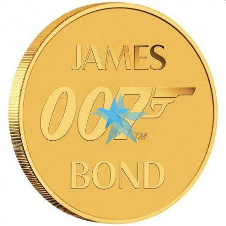 0,5g zlatá mince JAMES BOND 007 2020 v kartě