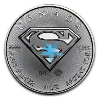 1 Oz stříbro Maple Leaf 2016 SUPERMAN