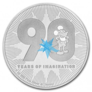 1 Oz stříbro DISNEY 90th anniversary MICKEY