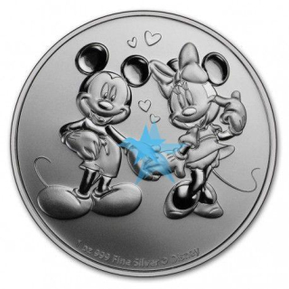 1 Oz stříbrná mince MICKEY & MINNIE MOUSE 2020 $2