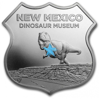1 troy Oz Icons of Route 66 - DINOSAUR MUSEUM
