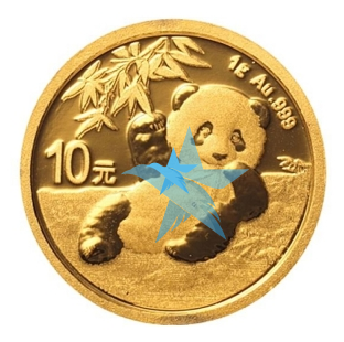 1 g zlatá mince Panda Brilliant Uncirculated 2020